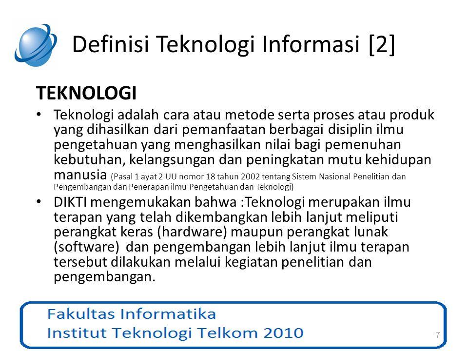 Definisi Teknologi Informasi [2]